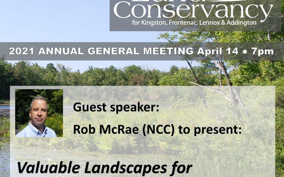 2021 Annual General Meeting: April 14, 2021